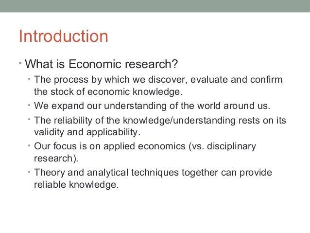 Economics thesis proposal