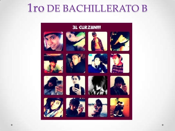 1ro DE BACHILLERATO B