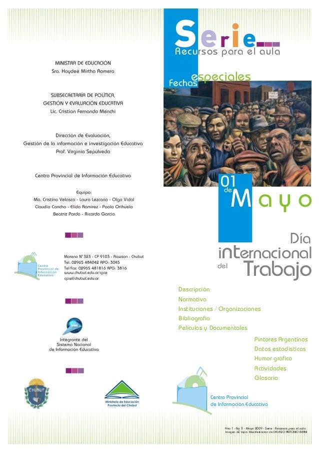 Recursos para el aula Serie  Fechaes speciales  01    deM a y o   Día   internacional del  Trabajo  Descripción  Normativa...