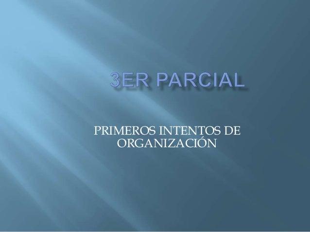 PRIMEROS INTENTOS DE ORGANIZACIÓN