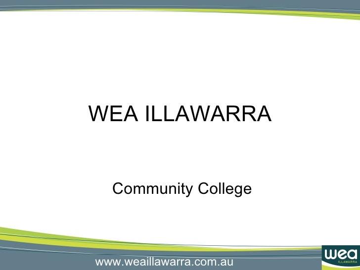 WEA ILLAWARRA Community College