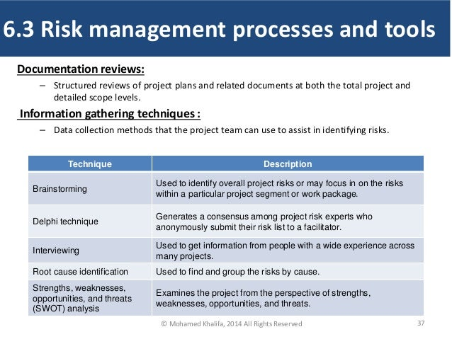 Documentation reviews: – Structured reviews of project plans and related documents at both the total project and detailed ...