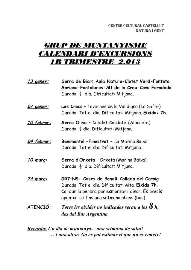 CENTRE CULTURAL CASTELLUT                                                   NATURA I GENT      GRUP DE MUNTANYISME     CAL...
