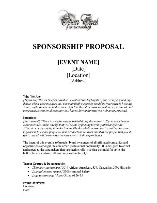 best event sponsorship proposal template