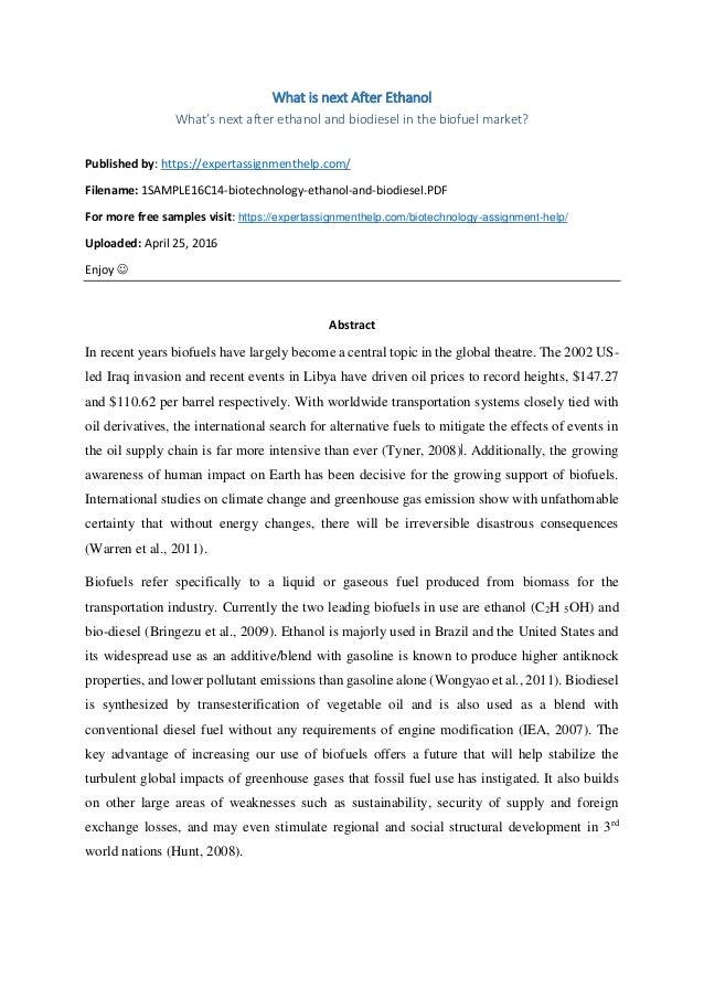 biodiesel essay