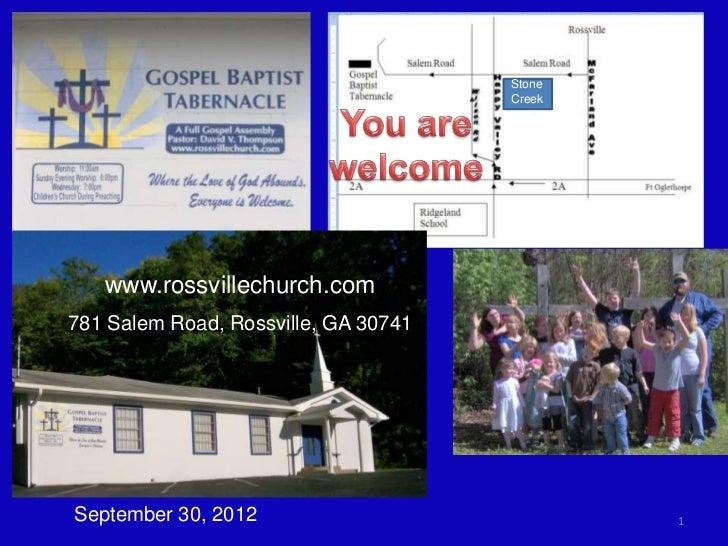 Stone                                      Creek   www.rossvillechurch.com781 Salem Road, Rossville, GA 30741September 30,...