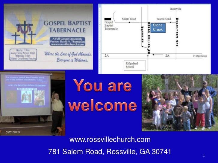Stone                                Creek      www.rossvillechurch.com781 Salem Road, Rossville, GA 30741     1