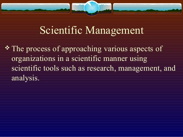patterns of management analysis by frederick taylor Analysis of theories of organizations and their management first,  ment was  under the leadership of frederick taylor, an engineer who.