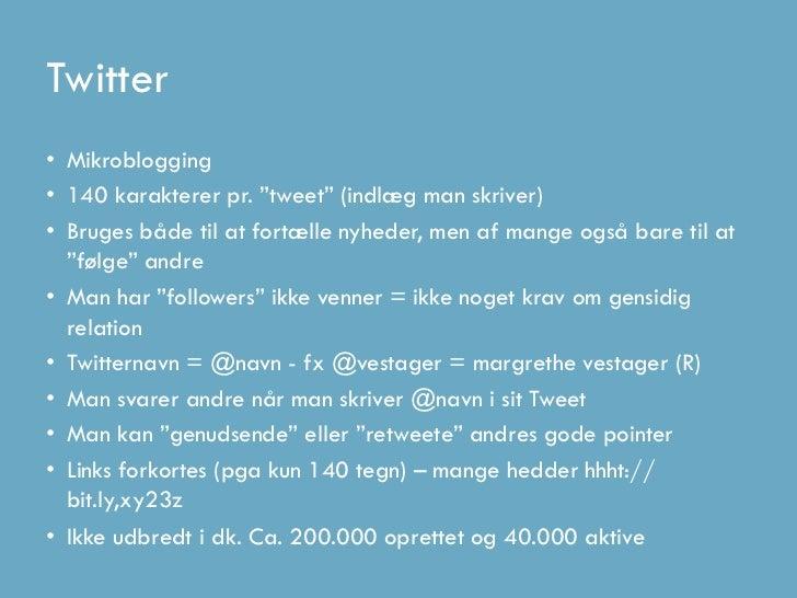 Update_Dag1 Twitter, Facebook, LinkedIn