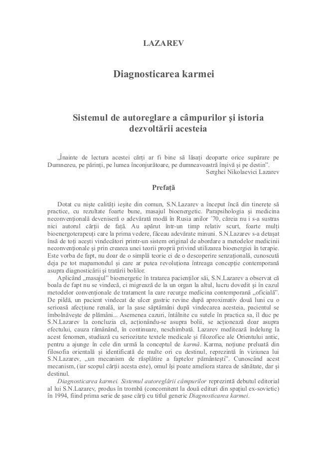 """LAZAREV Diagnosticarea karmei Sistemul de autoreglare a câmpurilor şi istoria dezvoltării acesteia """"Înainte de lectura ace..."""