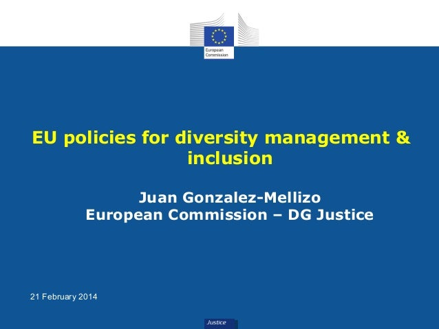 EU policies for diversity management & inclusion Juan Gonzalez-Mellizo European Commission – DG Justice  21 February 2014