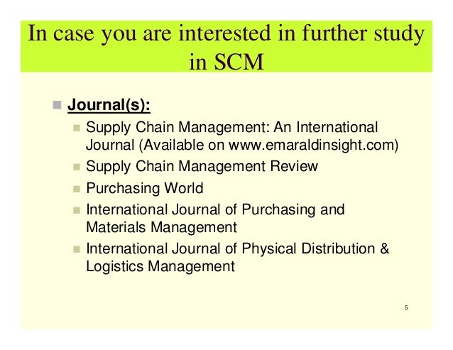 supply chain management final course outline Final lscm outline - download as word logistics and supply chain management of all members in the chain objective the objective of the course is to enable.