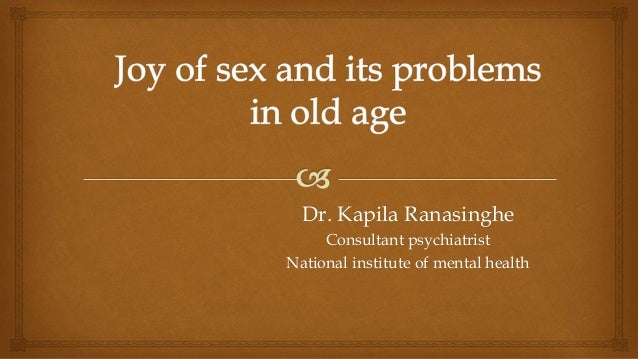 Sexuality and aging ppt