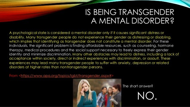 Transsexuals mental illness