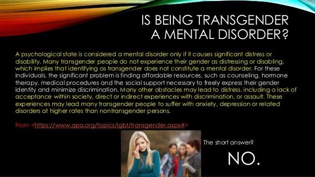 Transsexuals mental illness