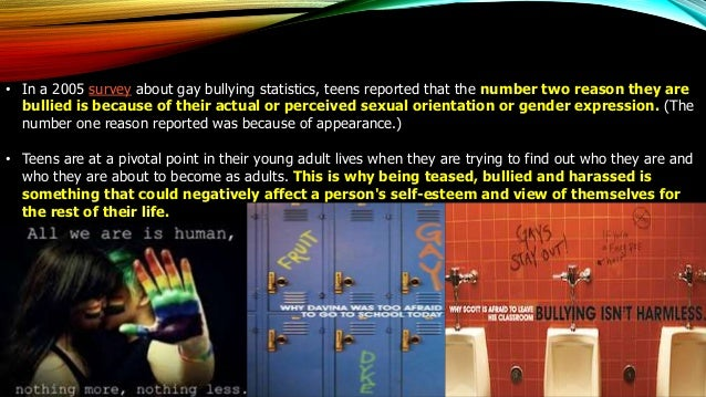 Sexual orientation bullying facts slides