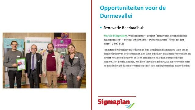 Opportuniteiten voor de Durmevallei  Andere initiatieven