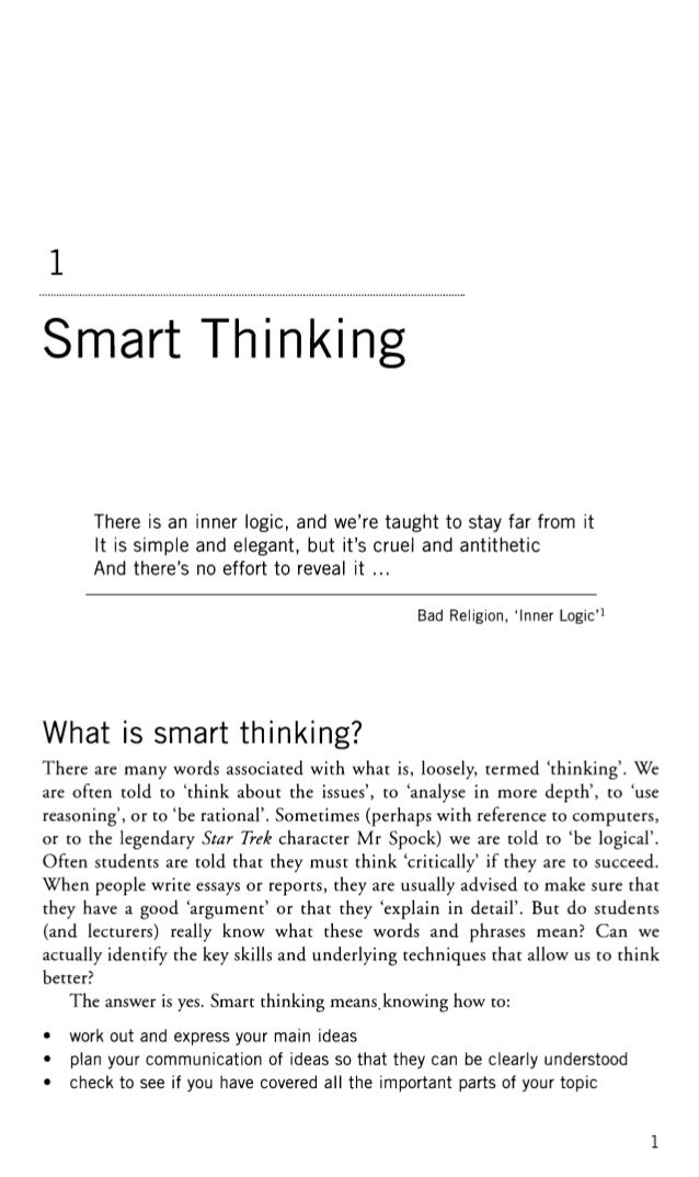 Oxford smart thinking - skills for critical understanding and writing