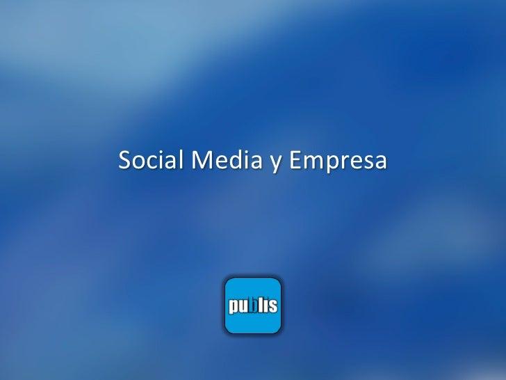 Social Media y Empresa