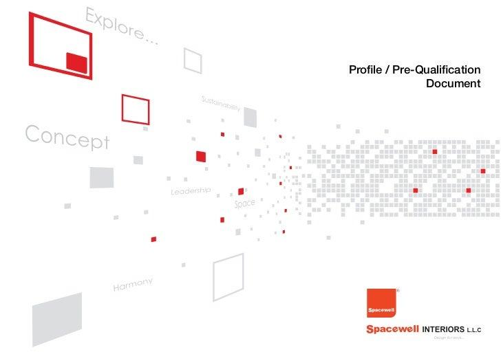 Profile / Pre-Qualification              Document                Design for work...