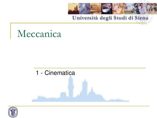 Meccanica 1 - Cinematica 1
