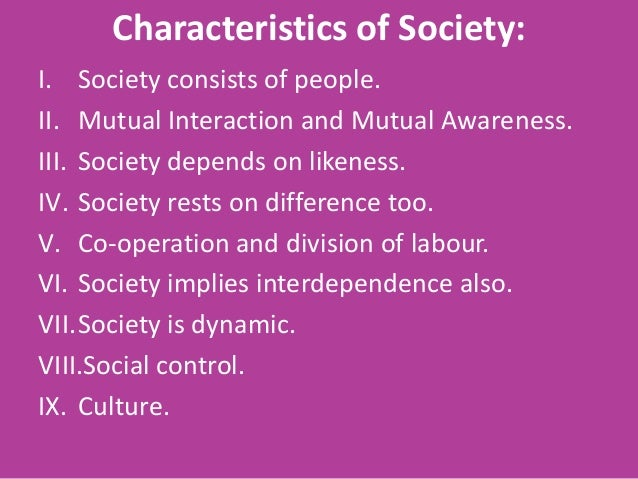 Seven Characteristics of a Civilized Society
