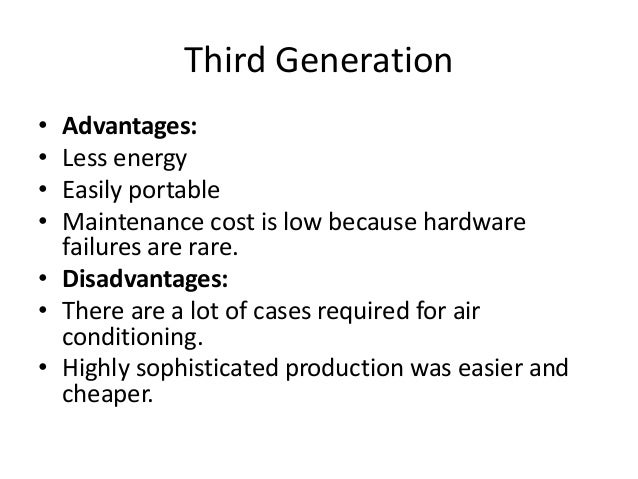 1st 5th Generations And It S Advantages And