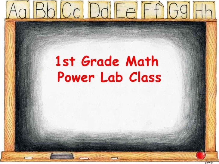1st Grade Math  Power Lab Class