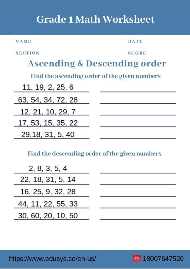 1st Grade Free Pdf Math Worksheet Printable