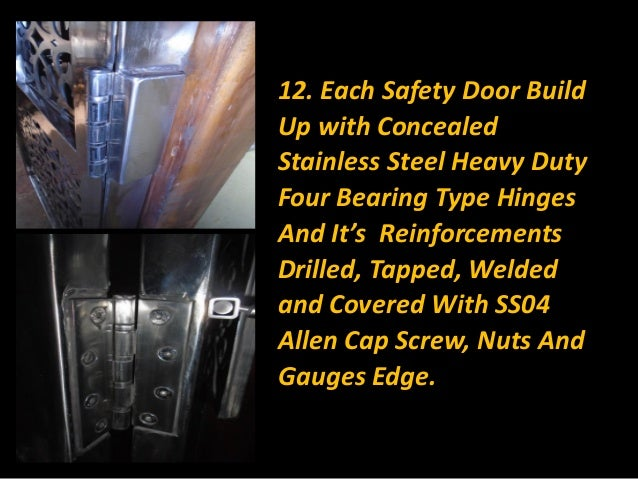 23 12 Each Safety Door Build Up With Concealed Stainless Steel