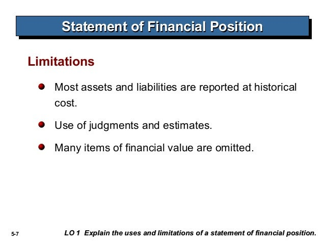 1 statement of financial position