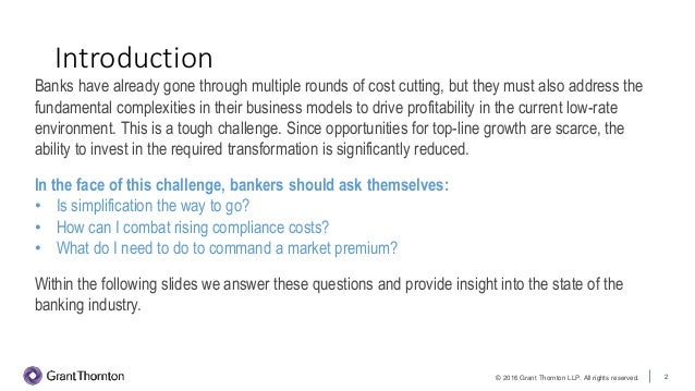 Driving profitability in a low-rate world: The state of the banking industry