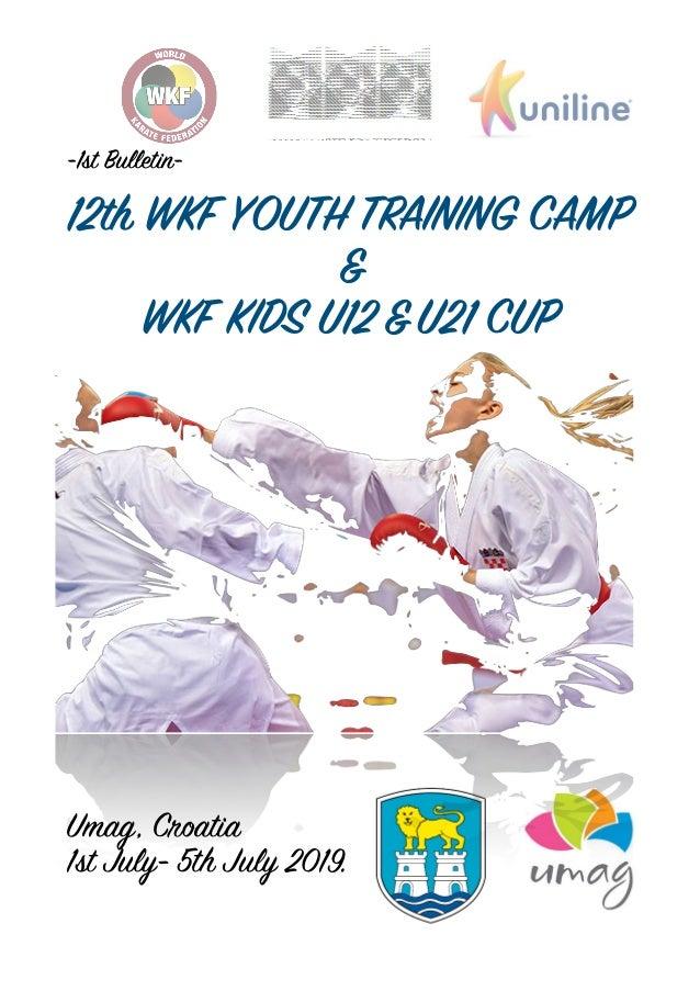 1st bulletin wkf youth camp training umag 2019