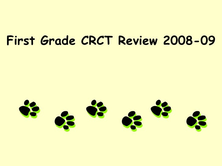 First Grade CRCT Review 2008-09