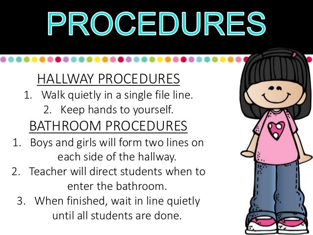 9  HALLWAY PROCEDURES. 1 st day of school ppt