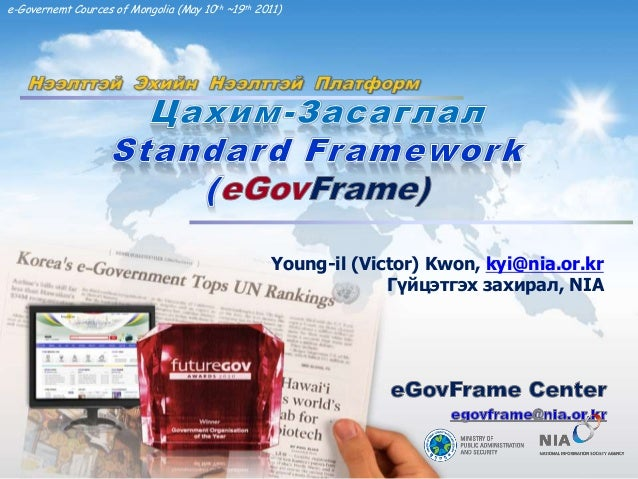 1/46e-Governemt Cources of Mongolia (May 10th ~19th 2011)Young-il (Victor) Kwon, kyi@nia.or.krГүйцэтгэх захирал, NIA