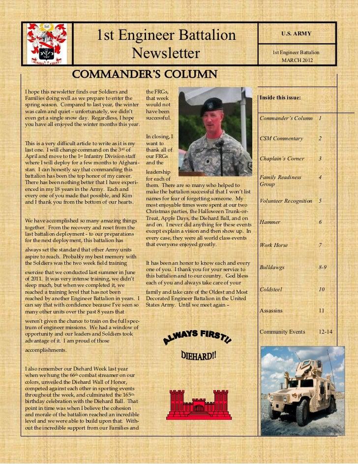 1st Engineer Battalion                                                             U.S. ARMY                              ...
