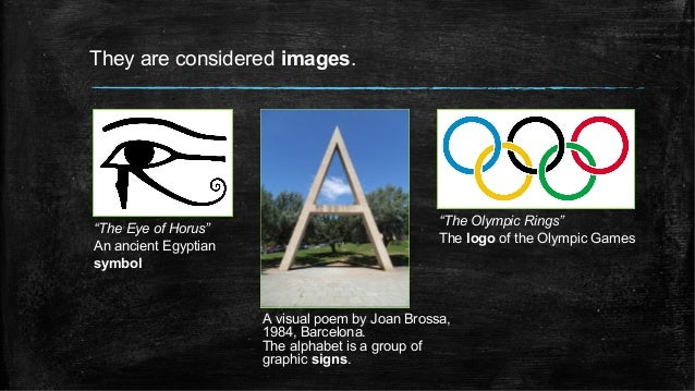 """They are considered images. """"The Eye of Horus"""" An ancient Egyptian symbol A visual poem by Joan Brossa, 1984, Barcelona. T..."""