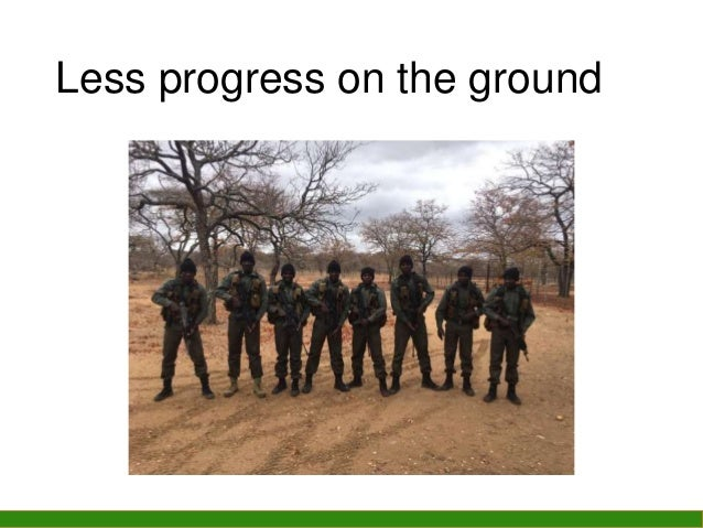 Less progress on the ground