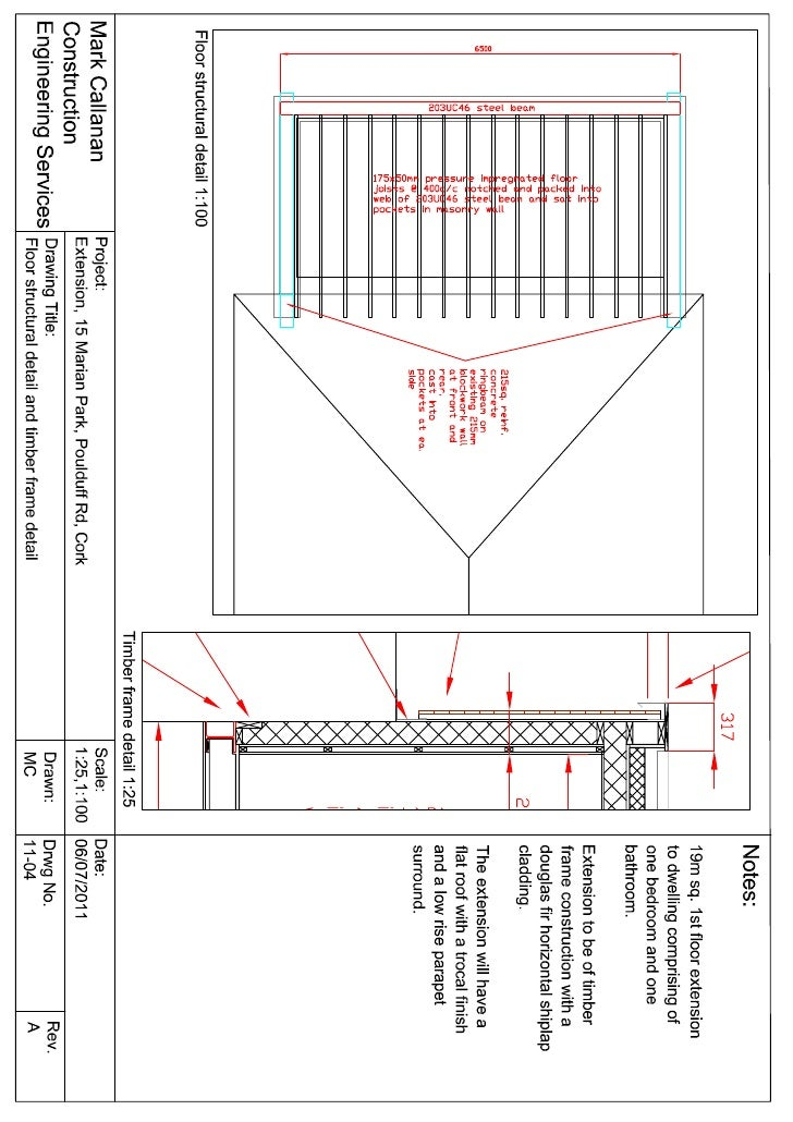 1st flr struct detail and timber frame detail