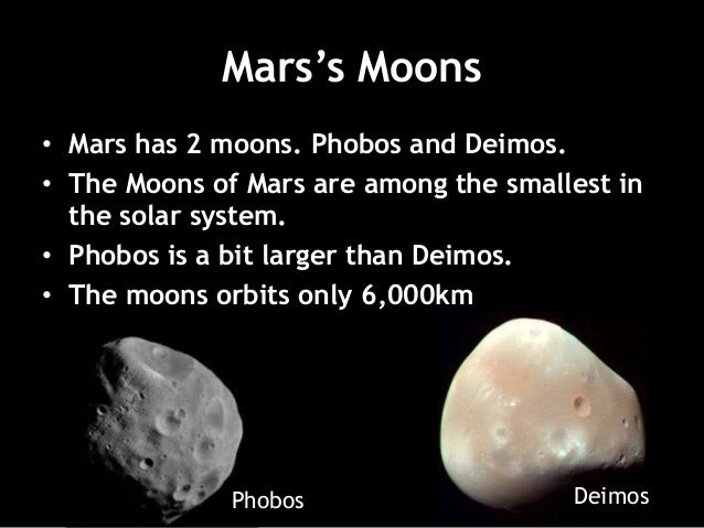 Compare and Contrast Earth and Mars- 1st Formative Task