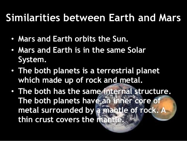 Earth and mars comparison essay format