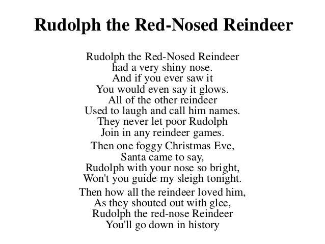 Rudolph The Red Nosed ReindeerLyrics  YouTube