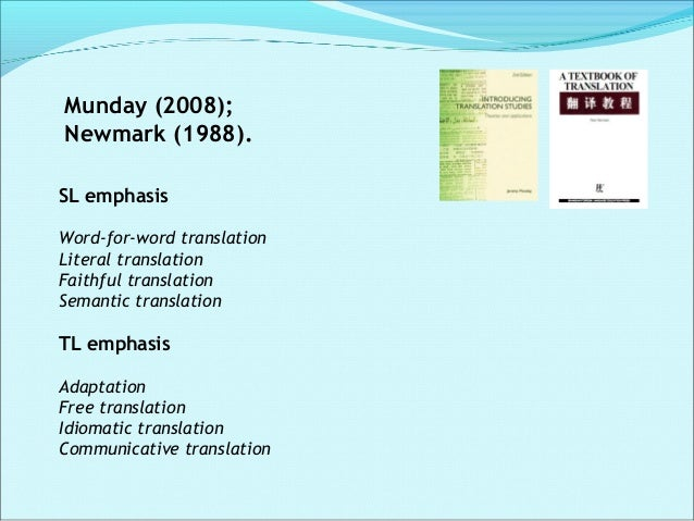 References:  Baker, M. (2006). In Other Words. A coursebook on translation. New York: Routledge.  Hatim, B and Munday, J...