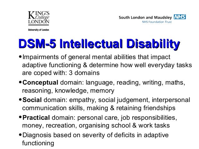 4 list the criteria for a diagnosis of mental retardation Sever mental retardation about 3% to 4% of persons that are mental retarded fall into this group  mental retardation diagnostic criteria - mental health made easy .