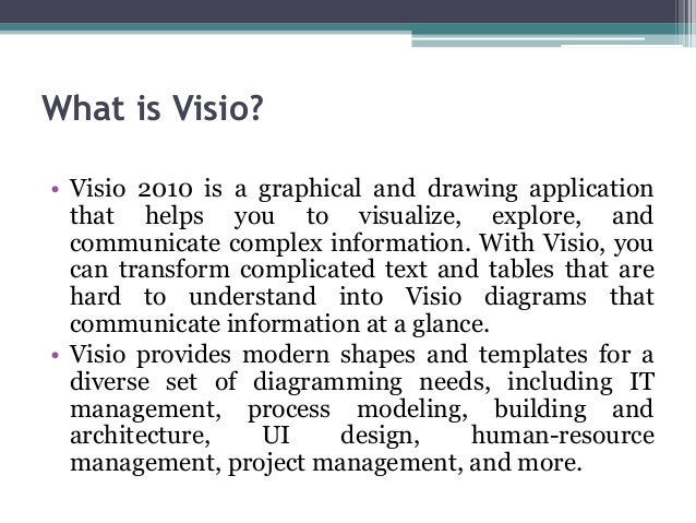 1st lecture basics of visio