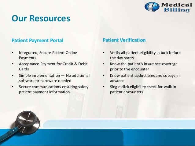 Our Resources Patient Payment Portal • Integrated, Secure Patient Online Payments • Acceptance Payment for Credit & Debit ...