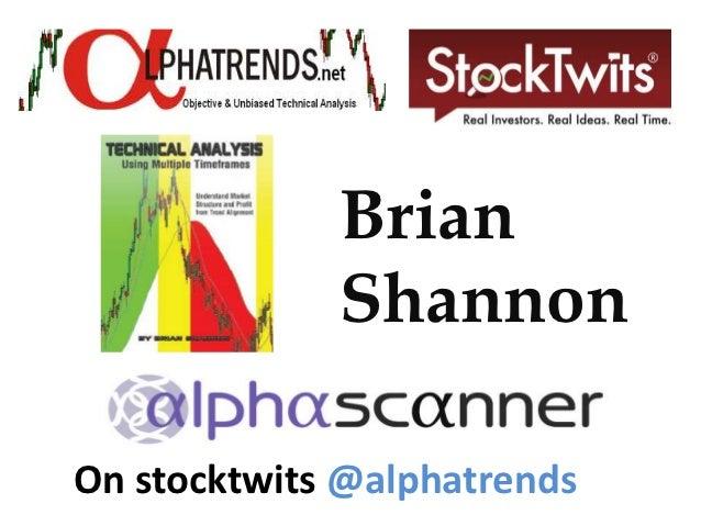 Brian             ShannonOn stocktwits @alphatrends
