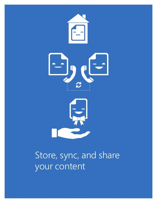 1 Store, sync, and share your content
