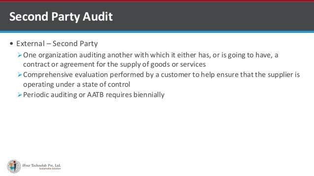ISO 1st Party 2nd 3rd Audits